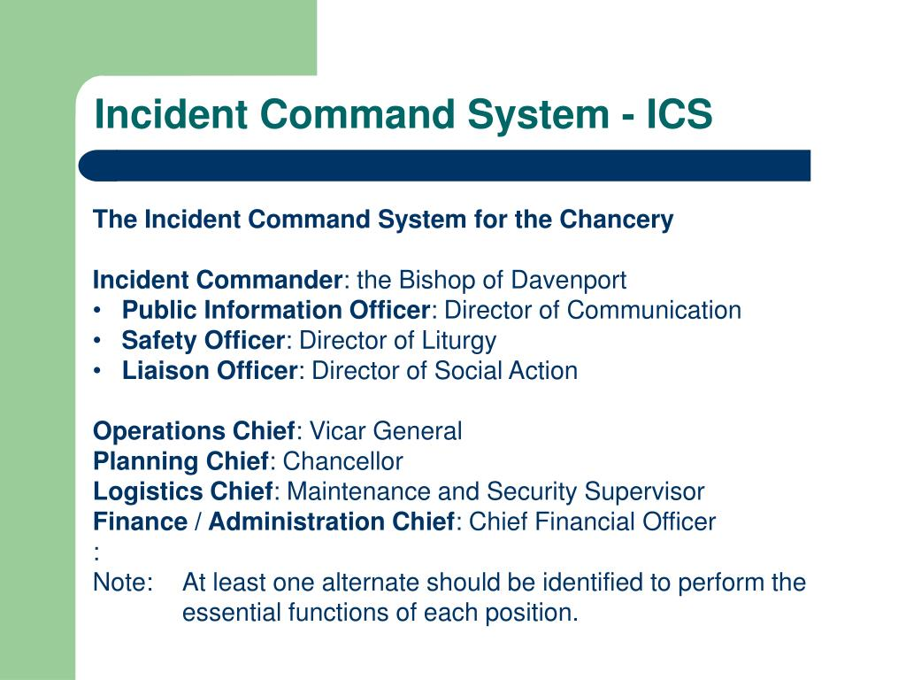 Incident Command System - ICS
