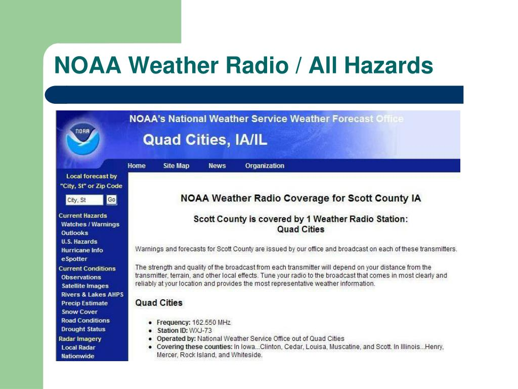 NOAA Weather Radio / All Hazards