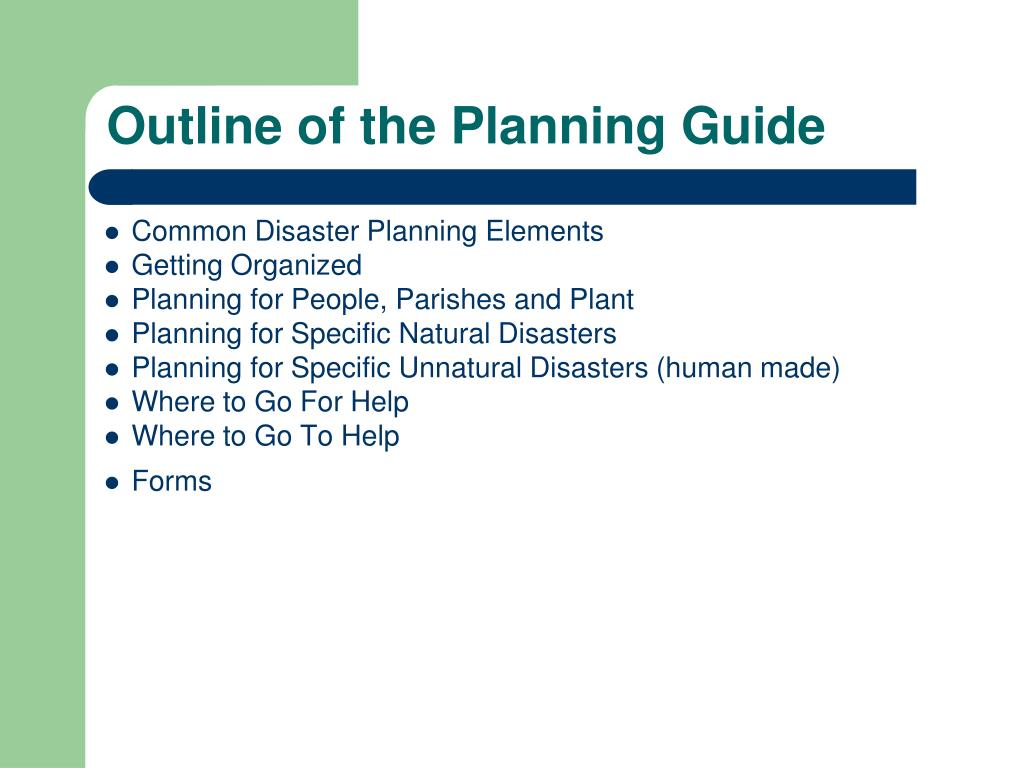 Outline of the Planning Guide