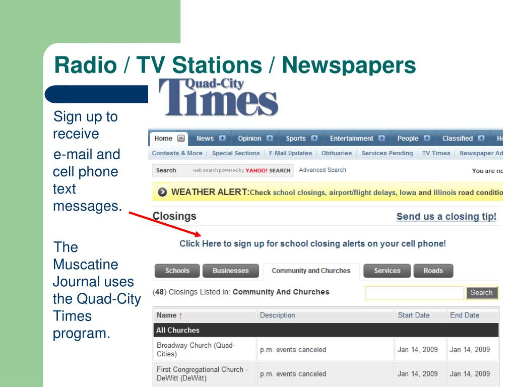 Radio / TV Stations / Newspapers