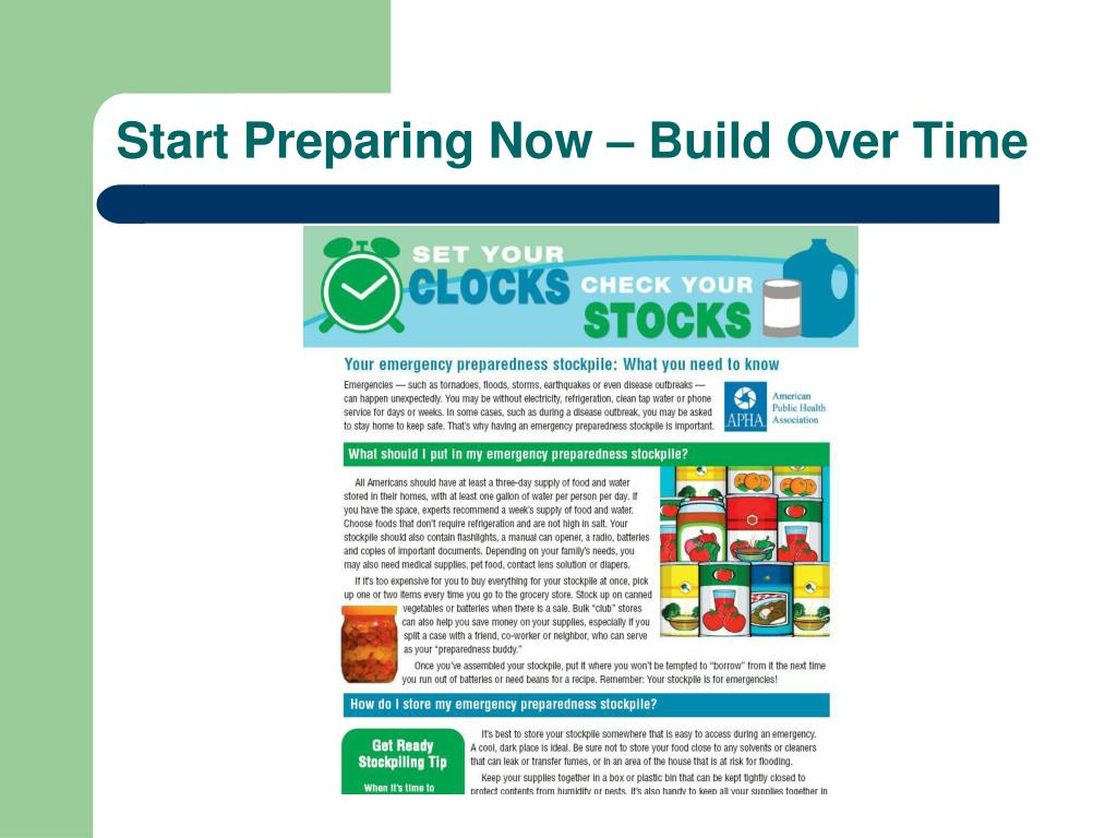 Start Preparing Now – Build Over Time