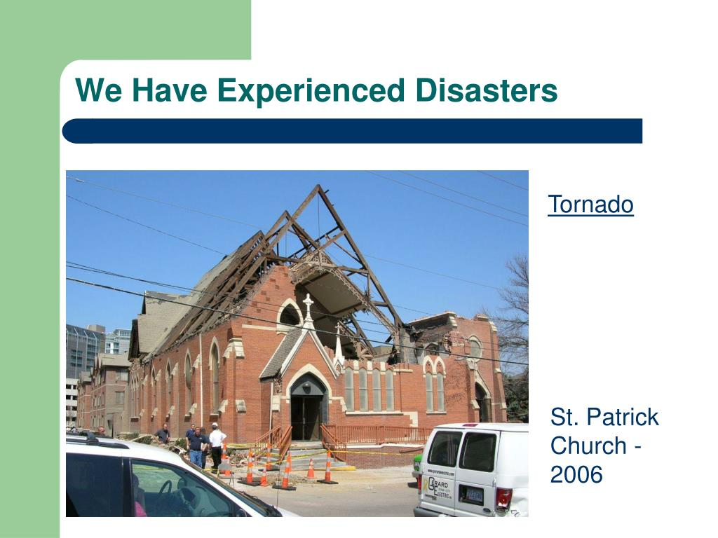 We Have Experienced Disasters