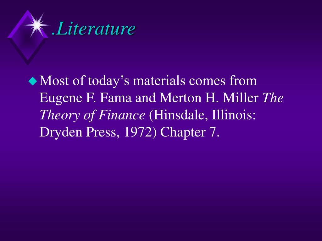 .Literature