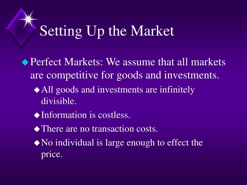 Setting Up the Market