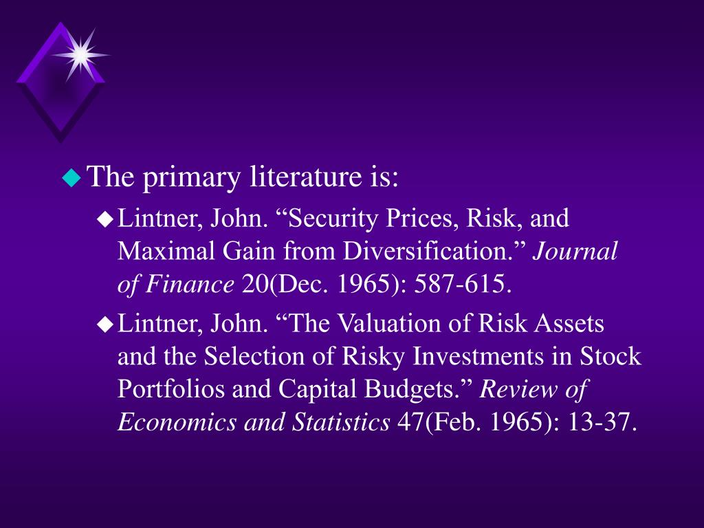 The primary literature is: