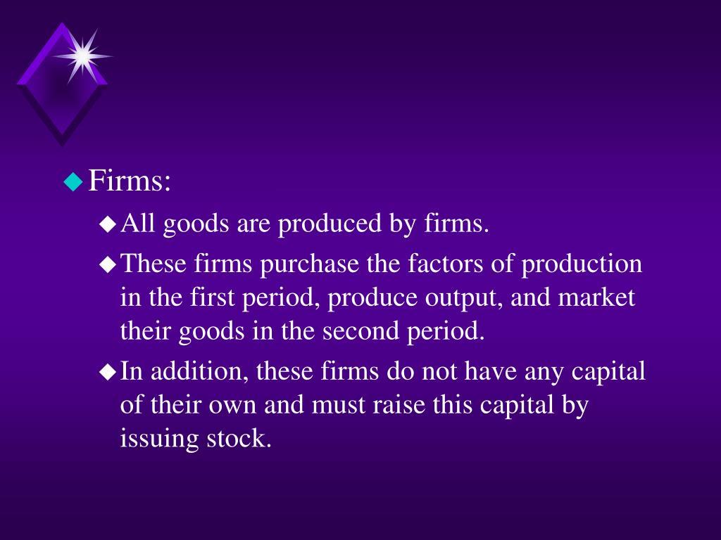 Firms: