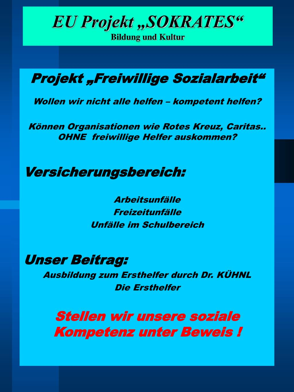 "EU Projekt ""SOKRATES"""