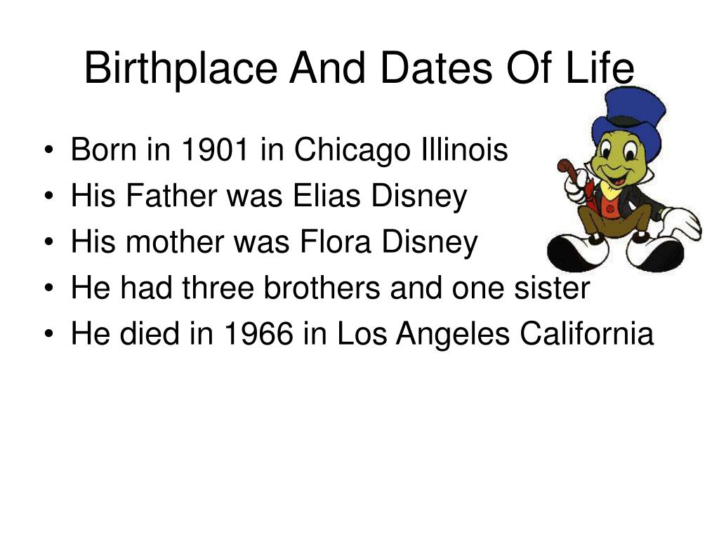 Birthplace And Dates Of Life