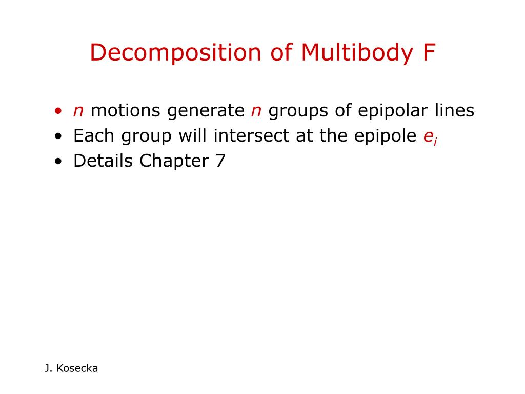 Decomposition of Multibody F
