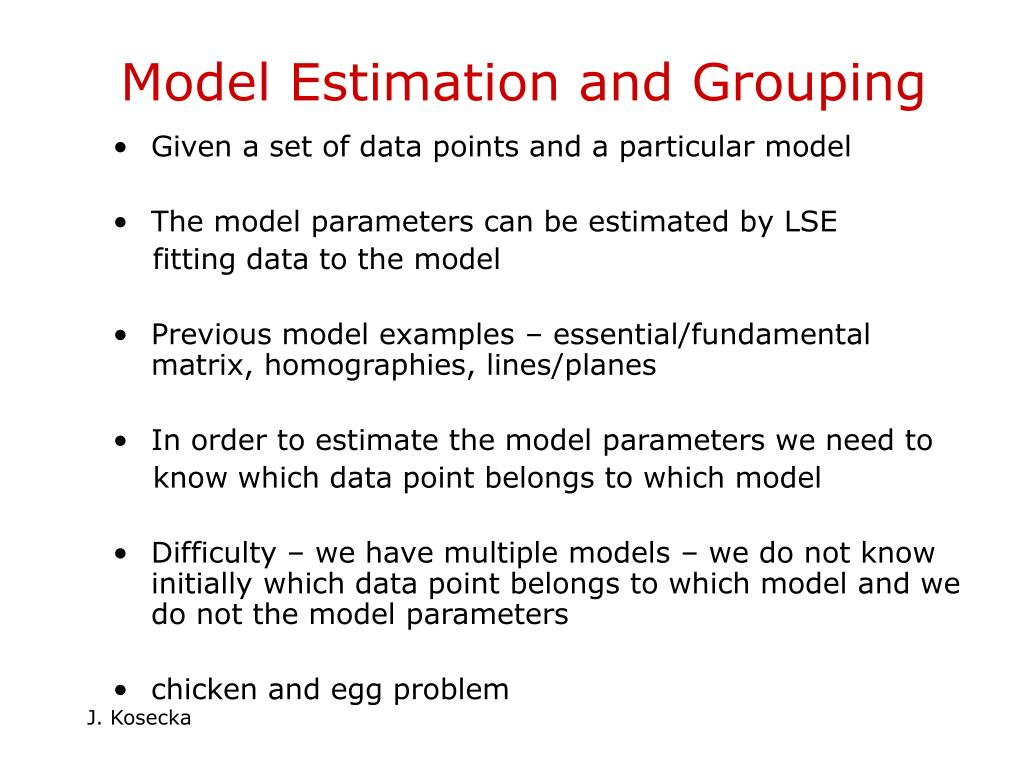 Model Estimation and Grouping