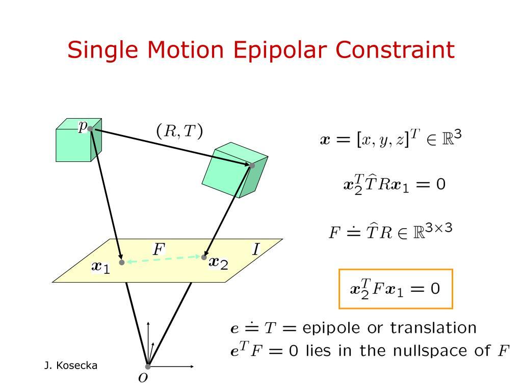 Single Motion Epipolar Constraint