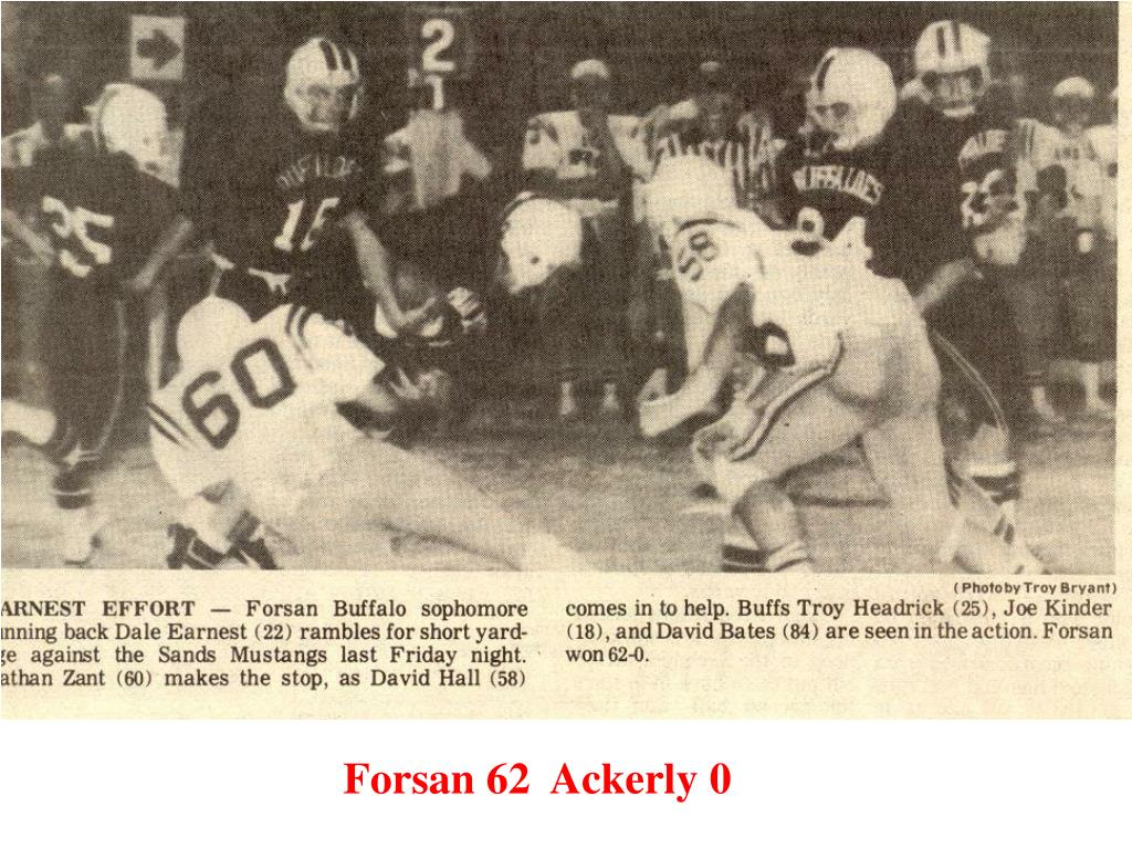 Forsan 62  Ackerly 0