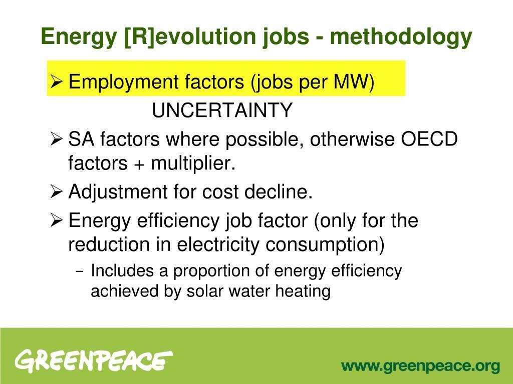 Energy [R]evolution jobs - methodology