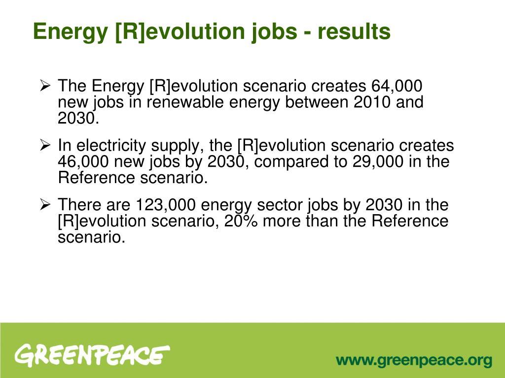 The Energy [R]evolution scenario creates