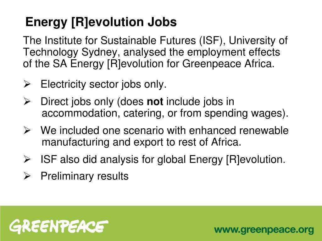 Energy [R]evolution Jobs