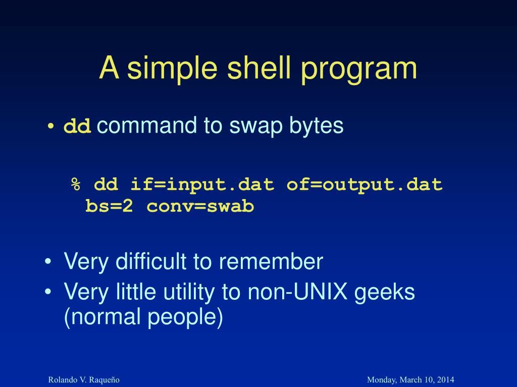 A simple shell program