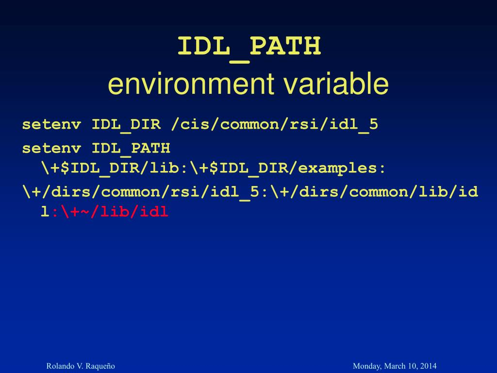 IDL_PATH