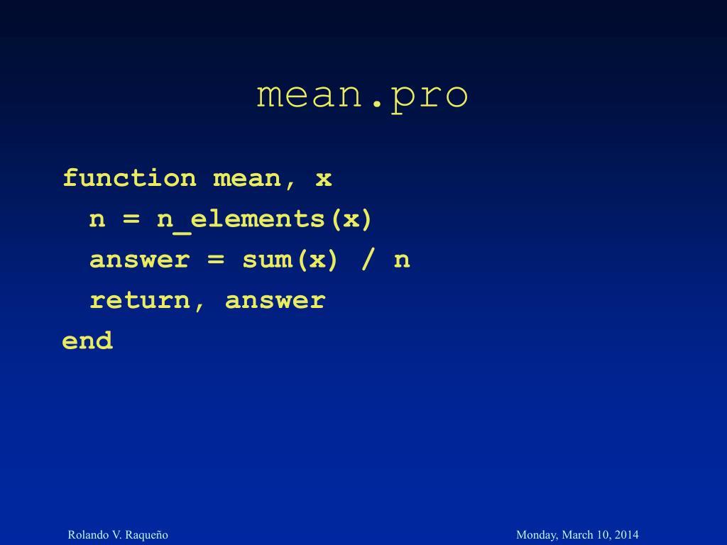 mean.pro