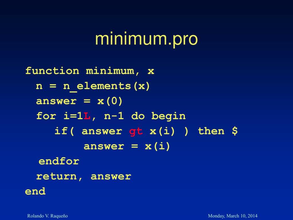 minimum.pro