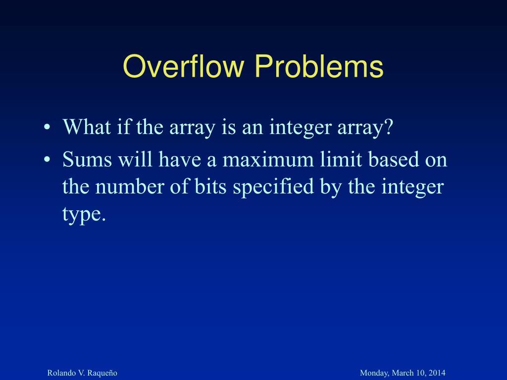 Overflow Problems