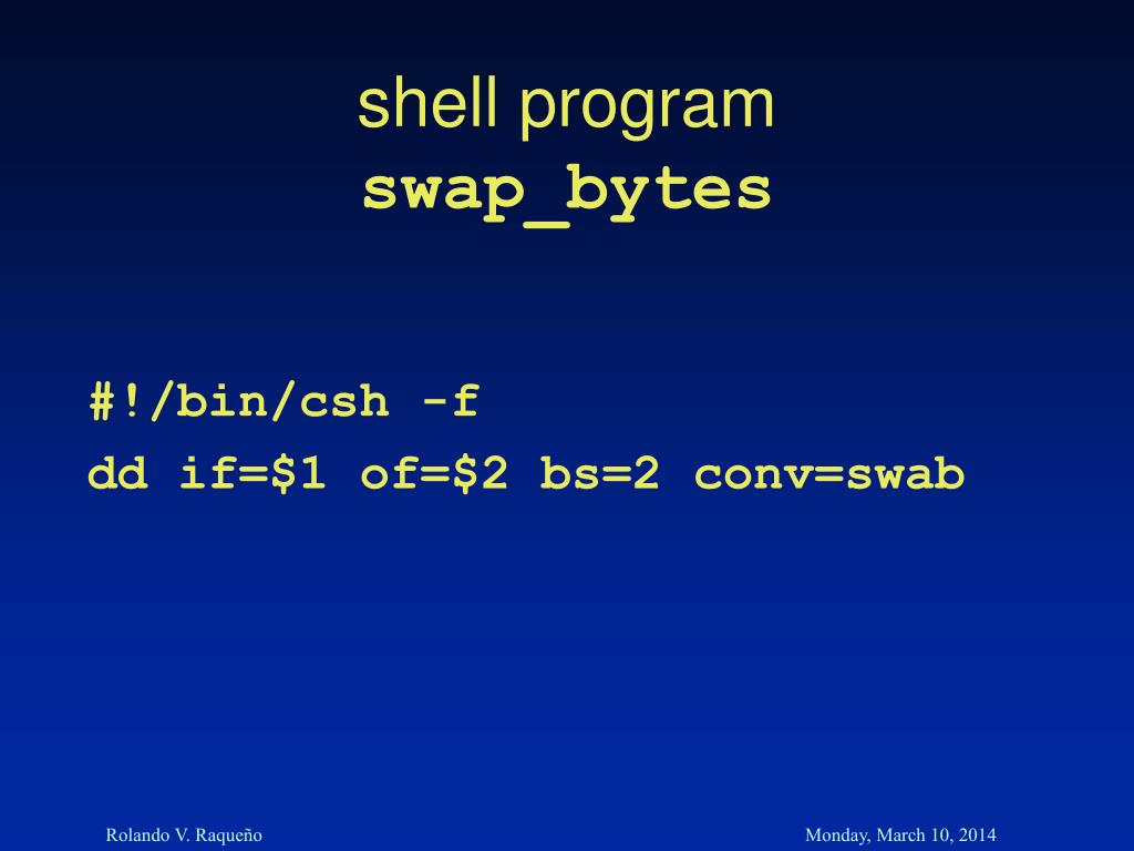 shell program