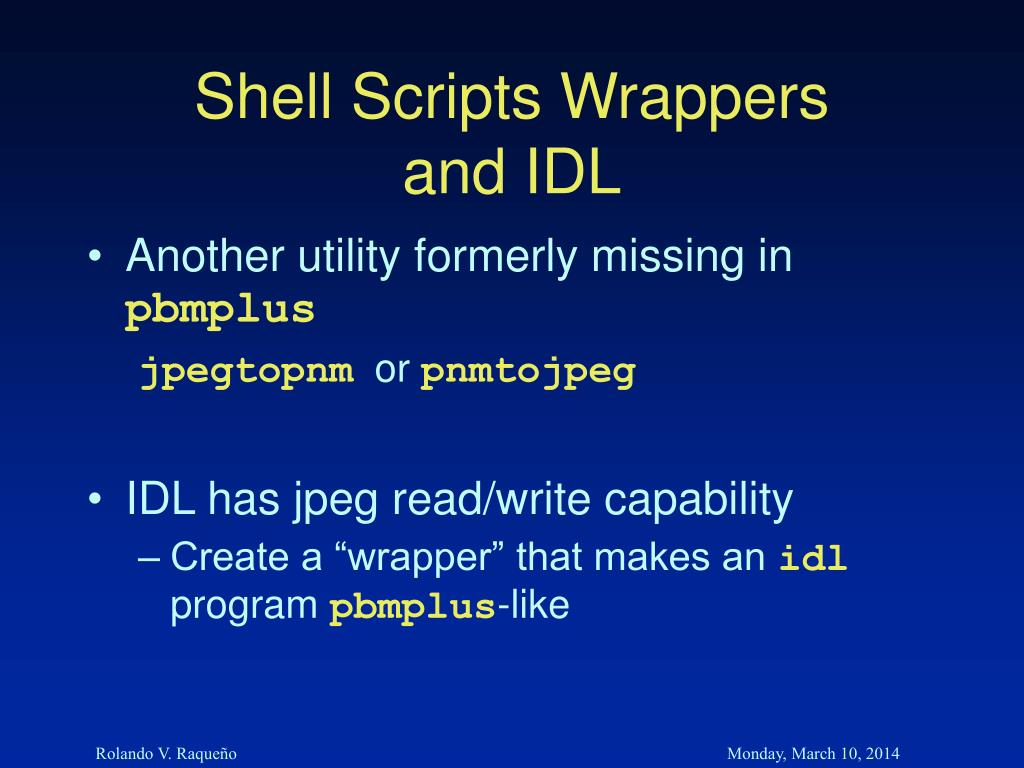 Shell Scripts Wrappers