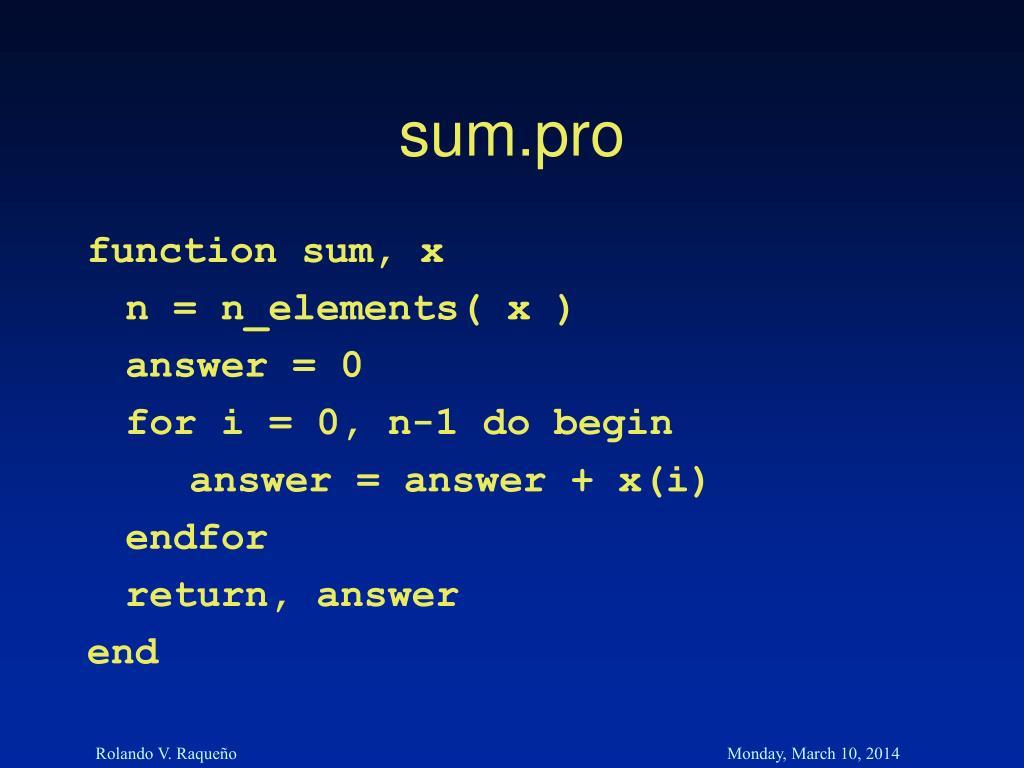 sum.pro