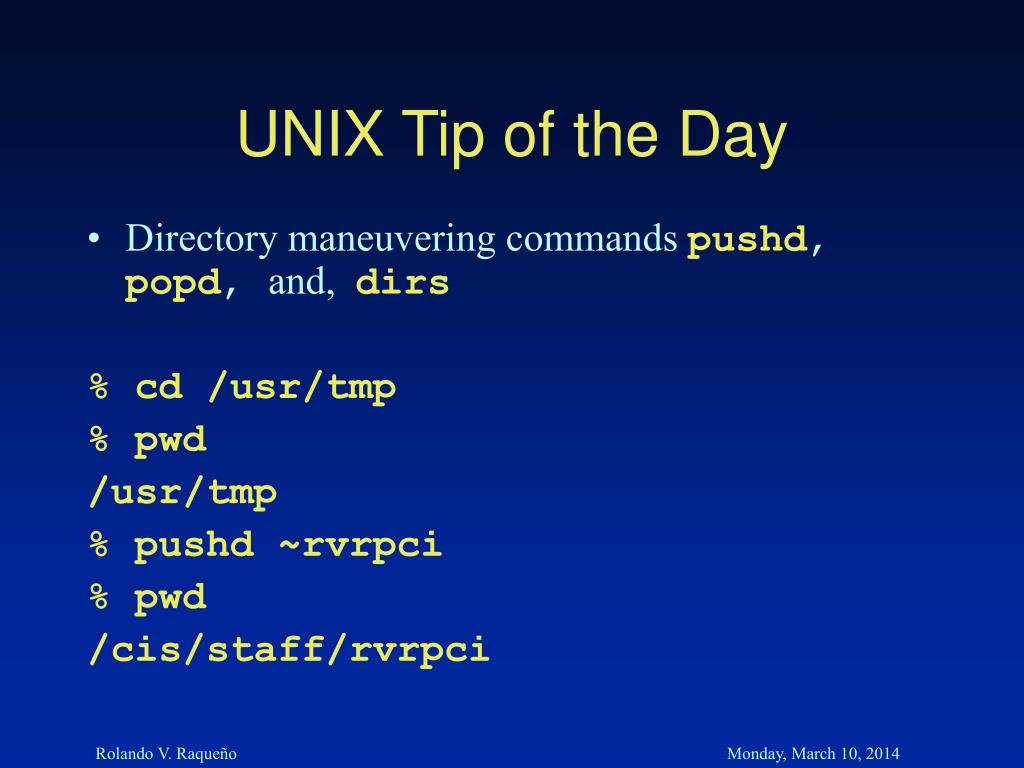 UNIX Tip of the Day