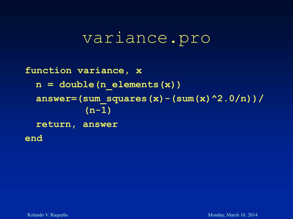 variance.pro