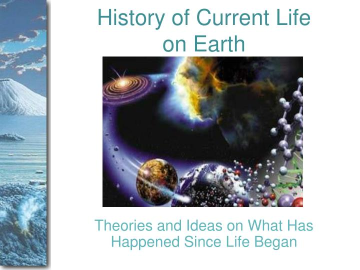 History of current life on earth