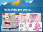 hello kitty products