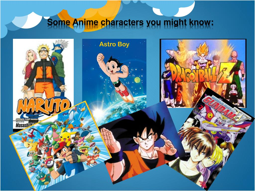 Some Anime characters you might know: