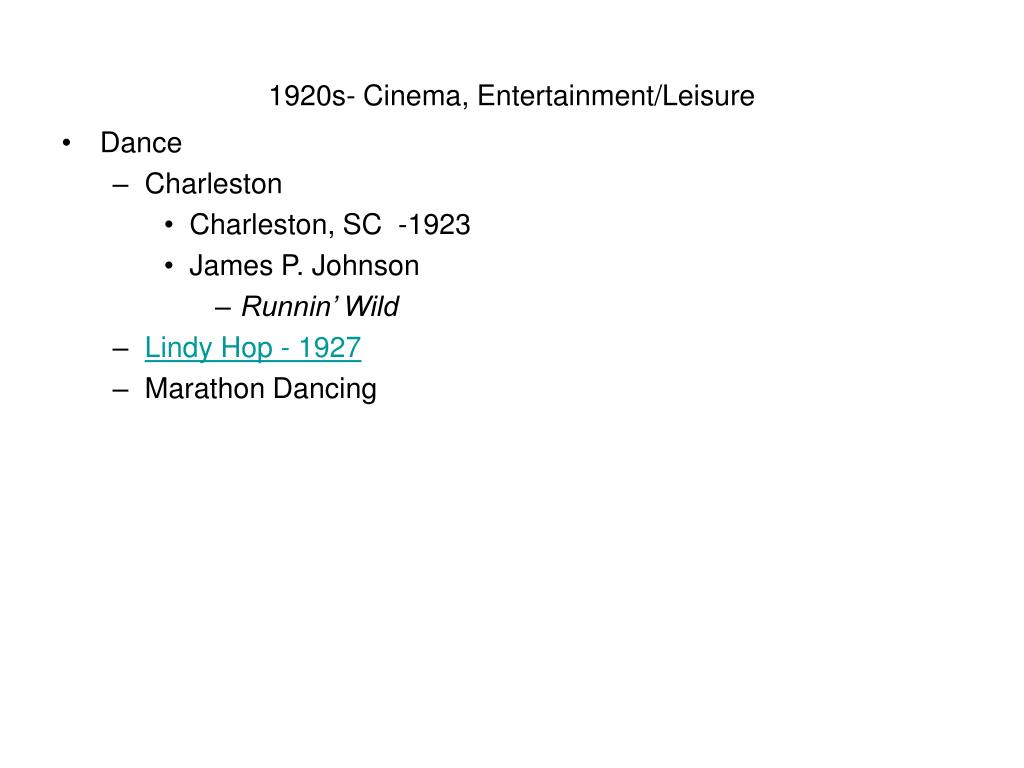 1920s- Cinema, Entertainment/Leisure