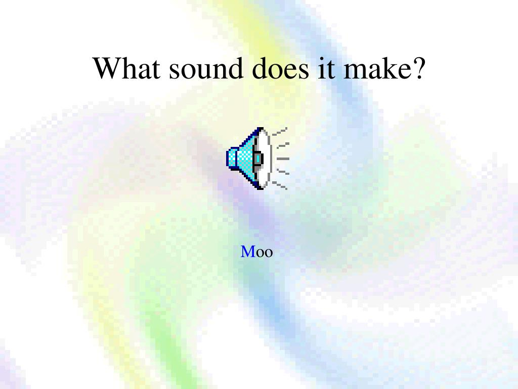 What sound does it make?