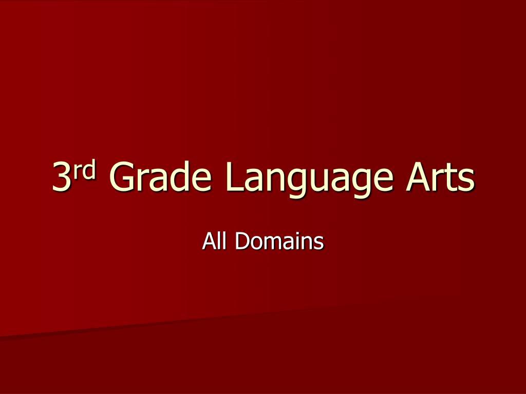 3 rd grade language arts