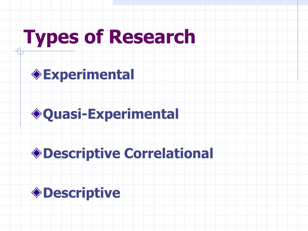 what are the types of research methods