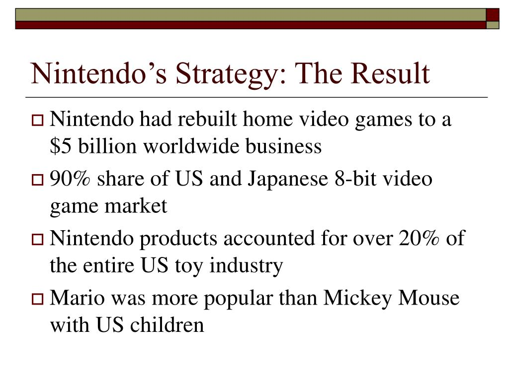 Nintendo's Strategy: The Result
