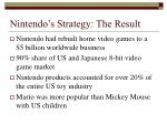 nintendo s strategy the result