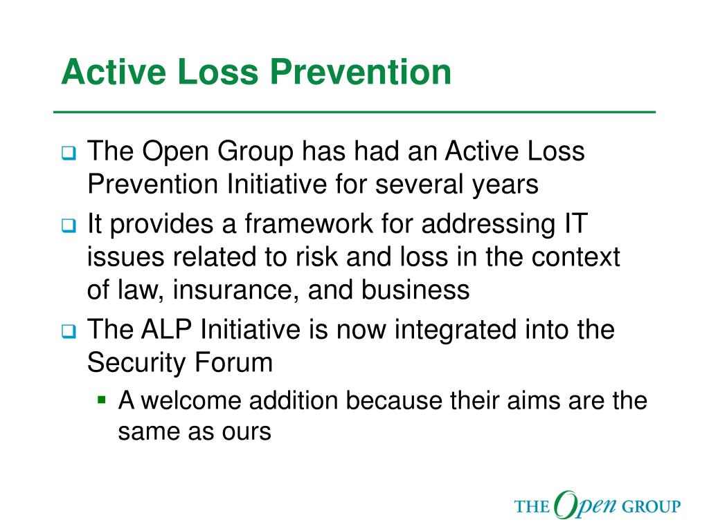 Active Loss Prevention