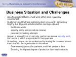 business situation and challenges