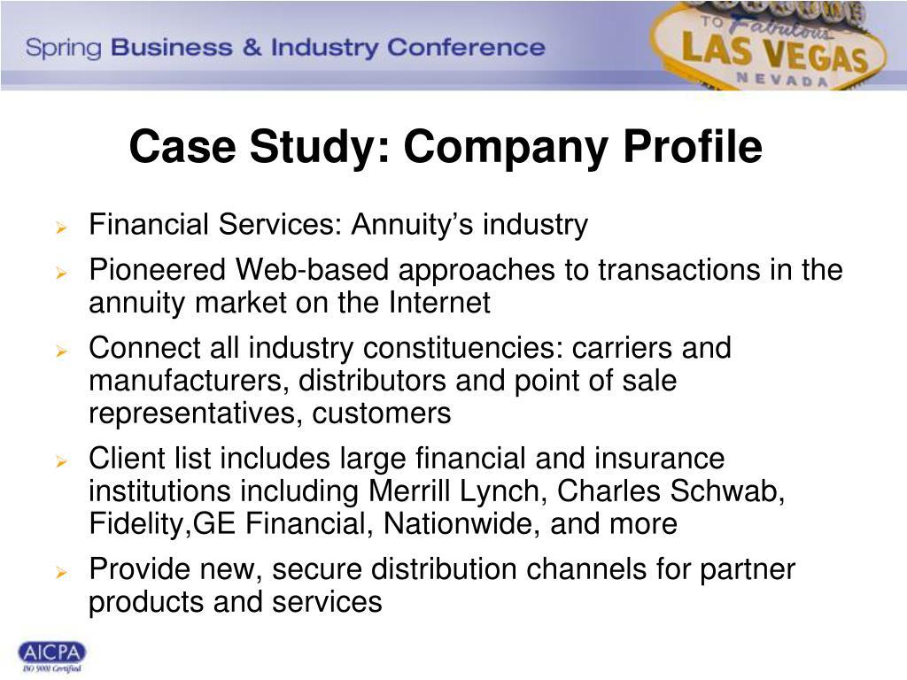 Case Study: Company Profile