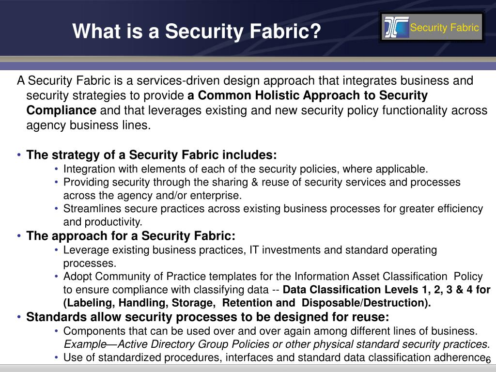 What is a Security Fabric?