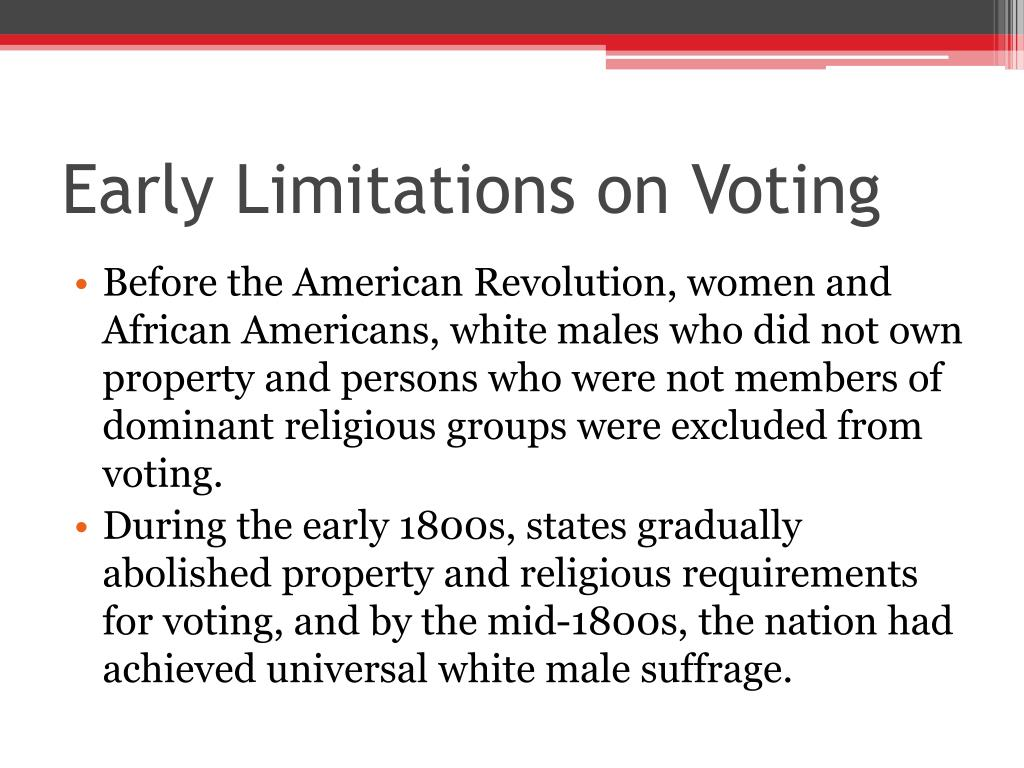 Early Limitations on Voting