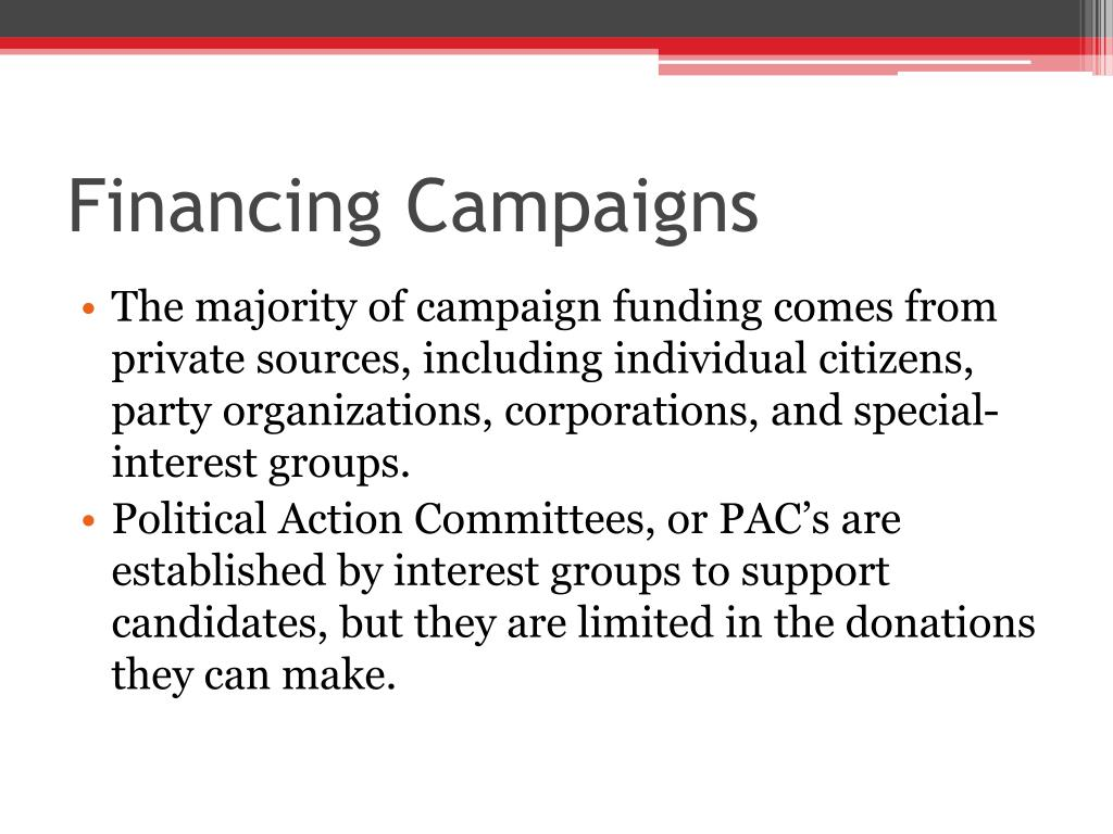 Financing Campaigns