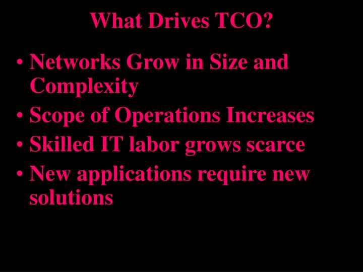 What drives tco