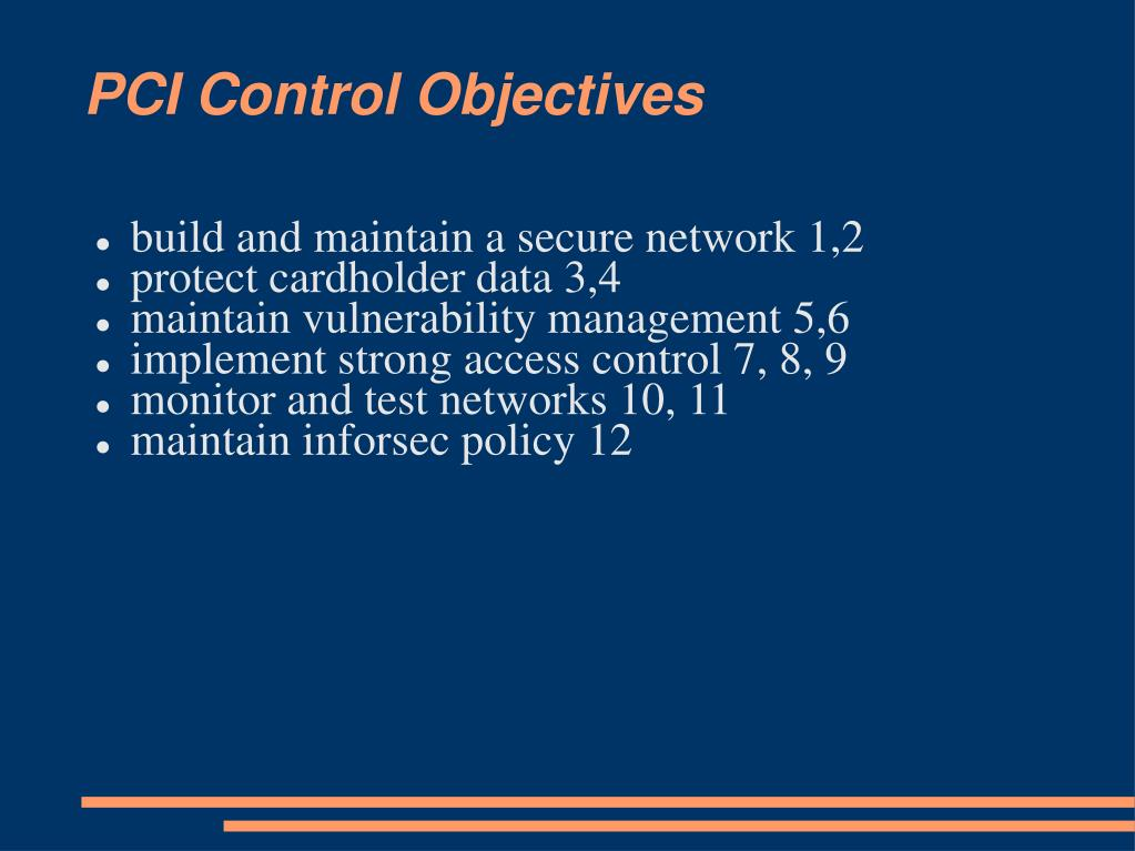 PCI Control Objectives