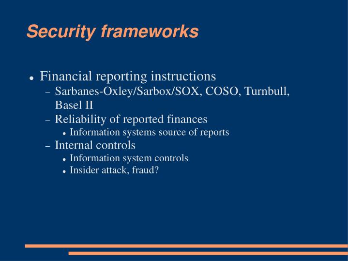 Security frameworks3