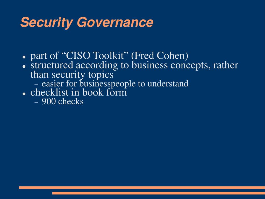 Security Governance