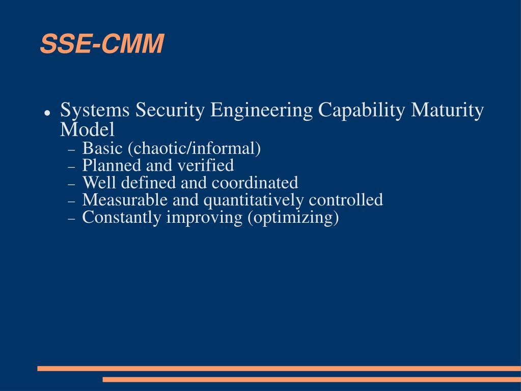SSE-CMM