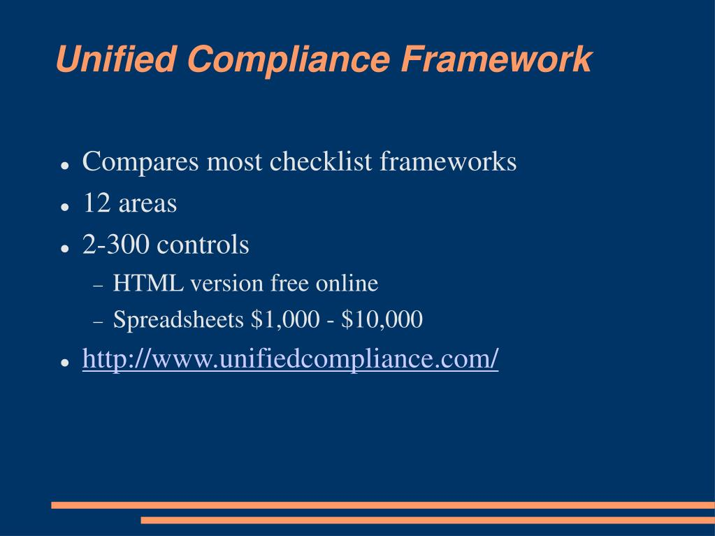 Unified Compliance Framework